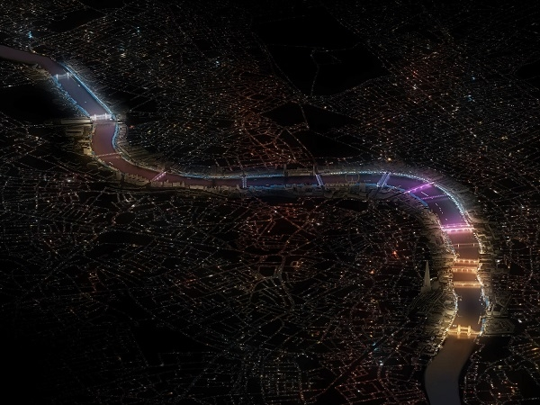 London's River Thames to be Illuminated with LED Lighting to Become the World's Largest Artwork