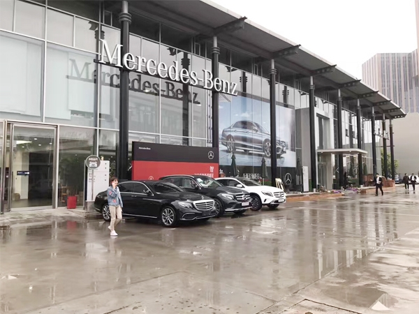 Congratulations the Dualrays IP65 waterproof LED light panel is successfully used for Mercedes Benz