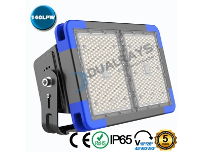 Dualrays F5 Series 360W IP66 Stadium LED Flood Light,140LPW Efficiency,5 Years Warranty,different beam angle especially for sport lighting