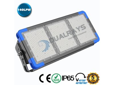 Dualrays F5 Series 540W IP66 Stadium LED Flood Light,140LPW Efficiency,5 Years Warranty,different beam angle especially for sport lighting
