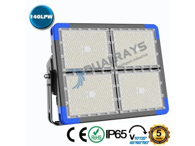 Dualrays F5 Series 720W IP66 Stadium LED Flood Light,140LPW Efficiency,5 Years Warranty,different beam angle especially for sport lighting