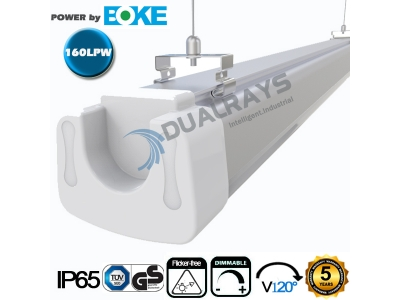 Dualrays D5 Series 5ft/80W LED Tri-proof Light 160LPW Efficiency , 5 years guarantee